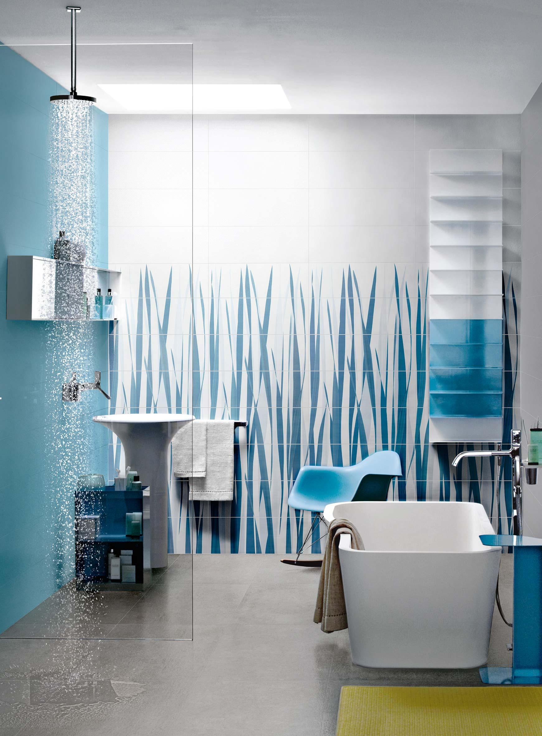 Bagno azul le ceramiche azzurre per il bagno ceramica for Piastrelle per bagno