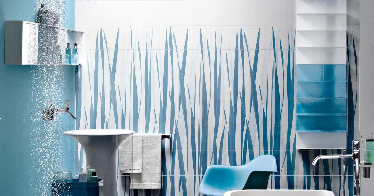Piastrelle Bianche Diamantate Bagno bagno azul: le ceramiche azzurre per il bagno | ceramica