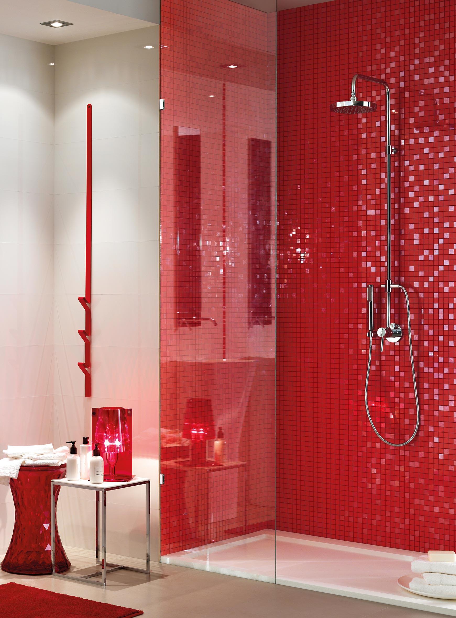 Bagno effetto mosaico mosaico arancio bagno effetto mosaico artigiano produzione mosaici su - Piastrelle bagno effetto mosaico ...