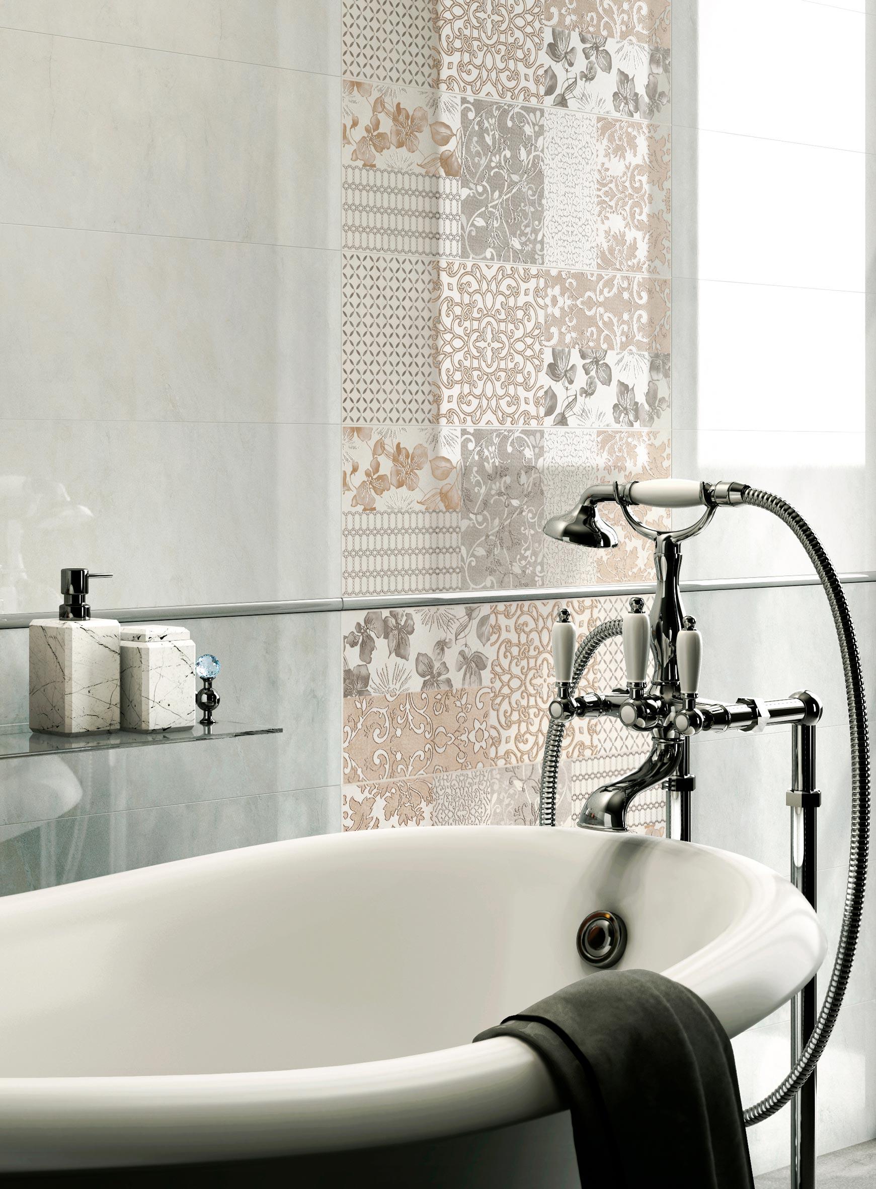 Bagni classici come creare un atmosfera lussuosa e sognante nella stanza pi intima ceramica - Piastrelle bagno damascate ...
