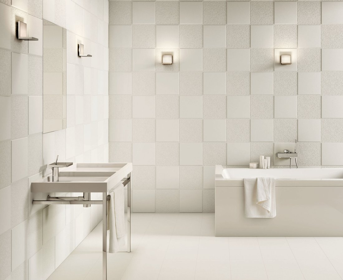 FLEXIBLE ARCHITECTURE, White tiles by Ceramica Sant'Agostino