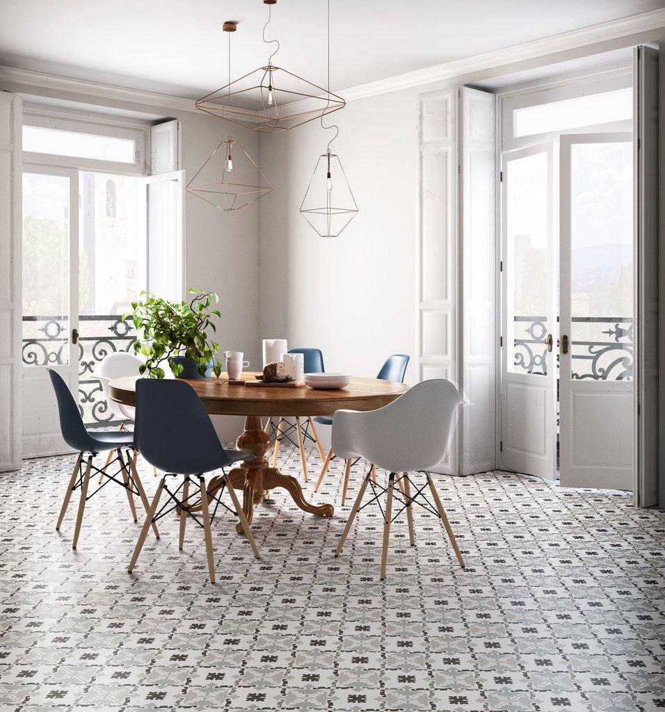 PATCHWORK BLACK&WHITE Porcelain stoneware tiles.   Ceramica Sant ...