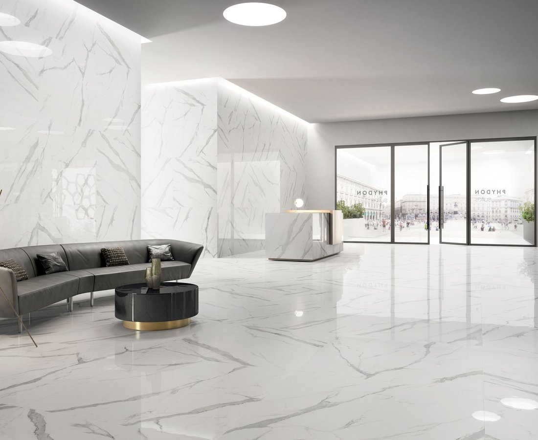 THEMAR, White tiles by Ceramica Sant'Agostino