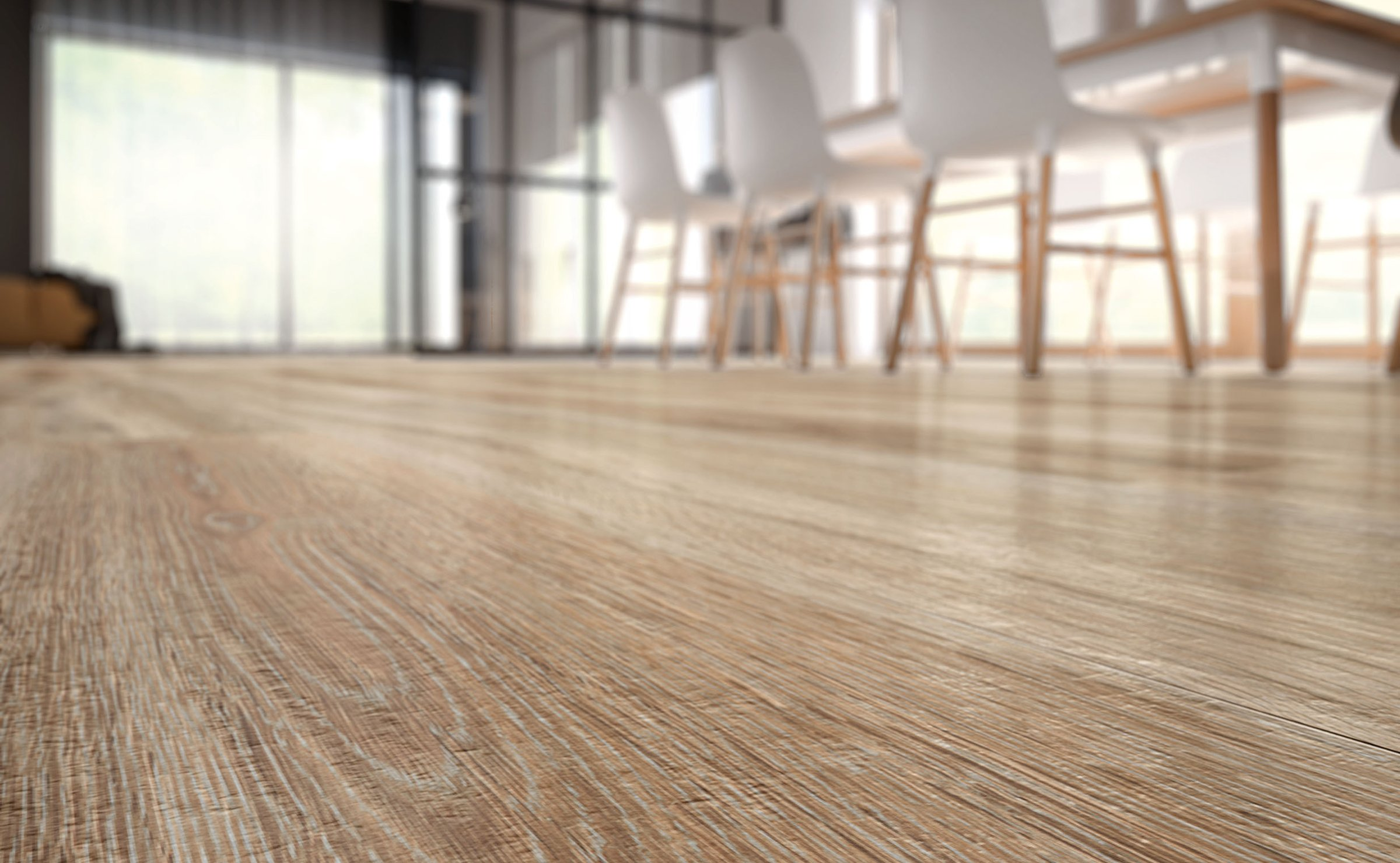Barkwood: wood-effect stoneware flooring
