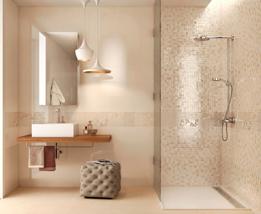 Bathroom tiles MARBLELUX by Ceramica Sant'Agostino