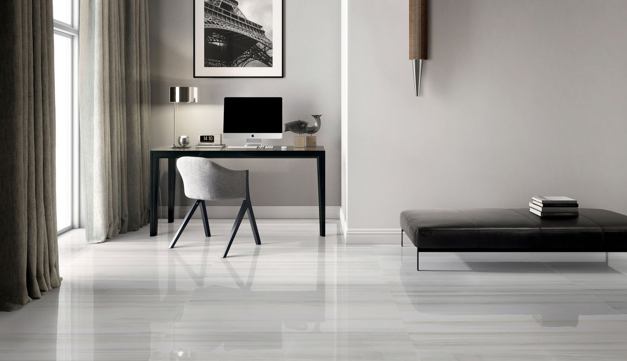 Pavimento Bianco E Grigio : Themar: pavimento effetto marmo ceramica santagostino