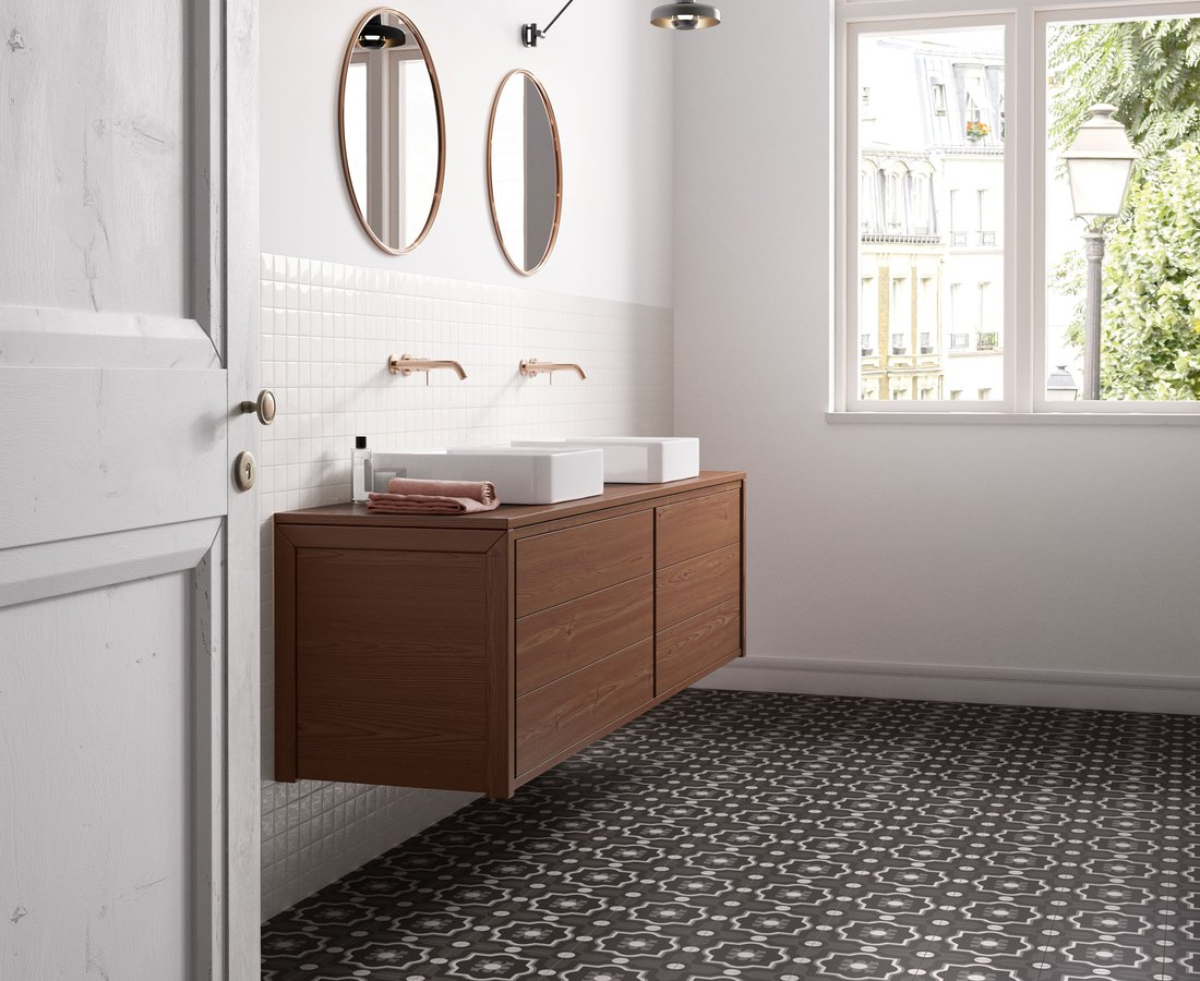 Bathroom tiles PATCHWORK BLACK&WHITE by Ceramica Sant'Agostino