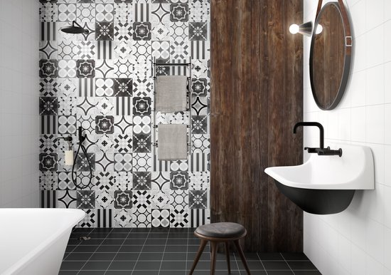 PATCHWORK BLACK&WHITE: Cementine in Gres