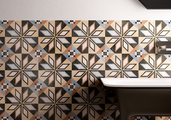 PATCHWORK COLORS cementine effect porcelain tiles