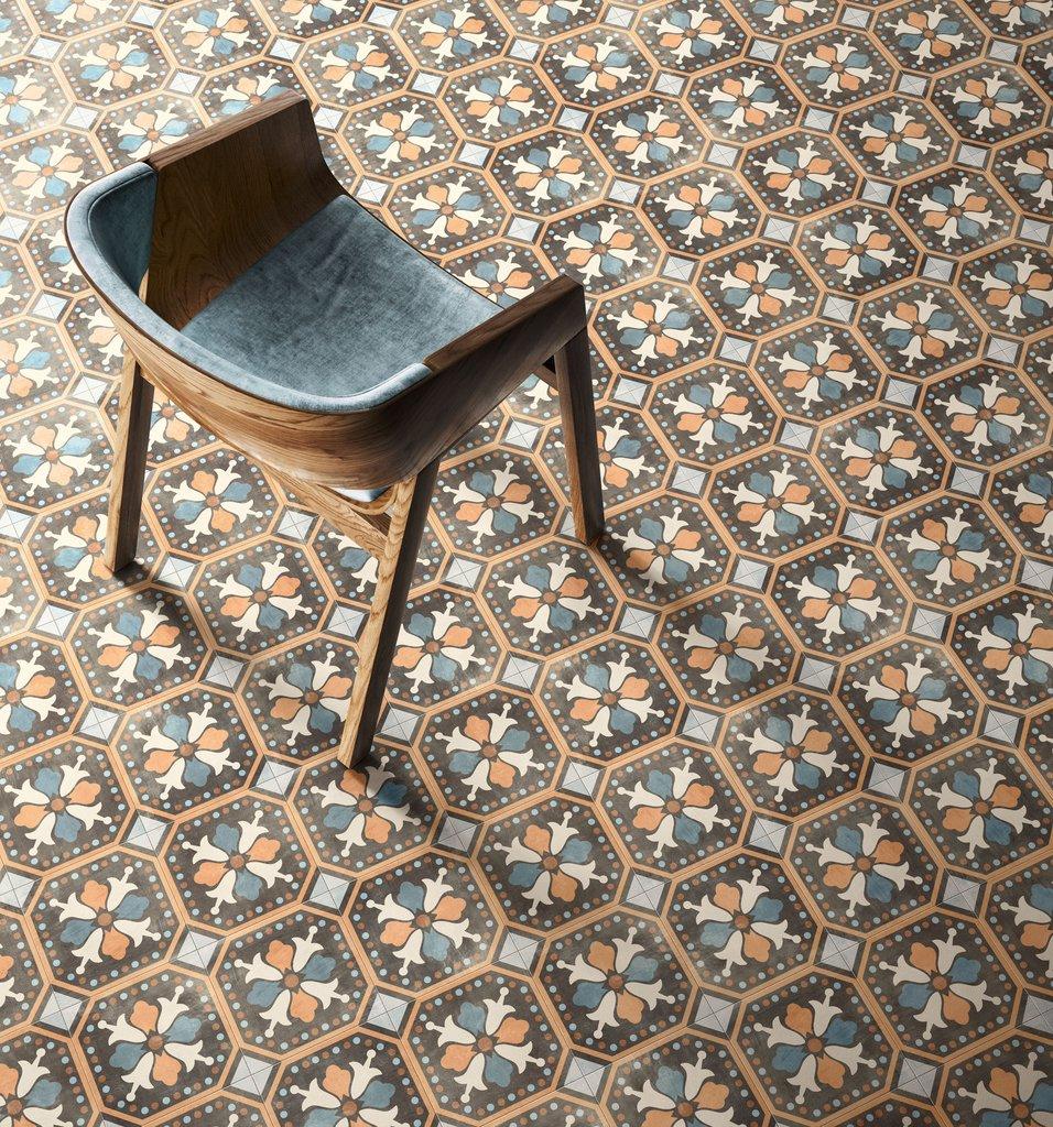 Patchwork Colors Cementine Effect Porcelain Tiles