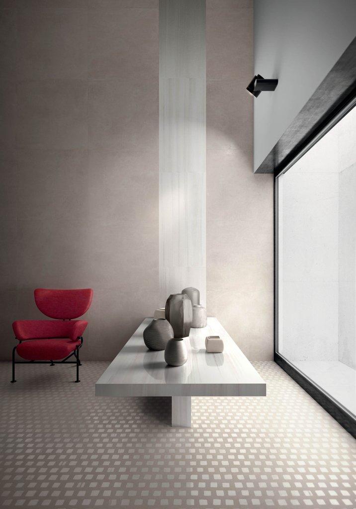 Set Concrete Effect Porcelain Stoneware Ceramica Sant