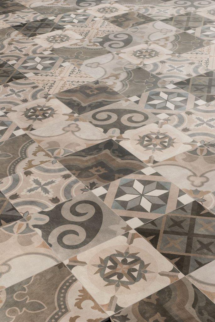 Patchwork classic cementine porcelain stoneware ceramica for Mattonelle design
