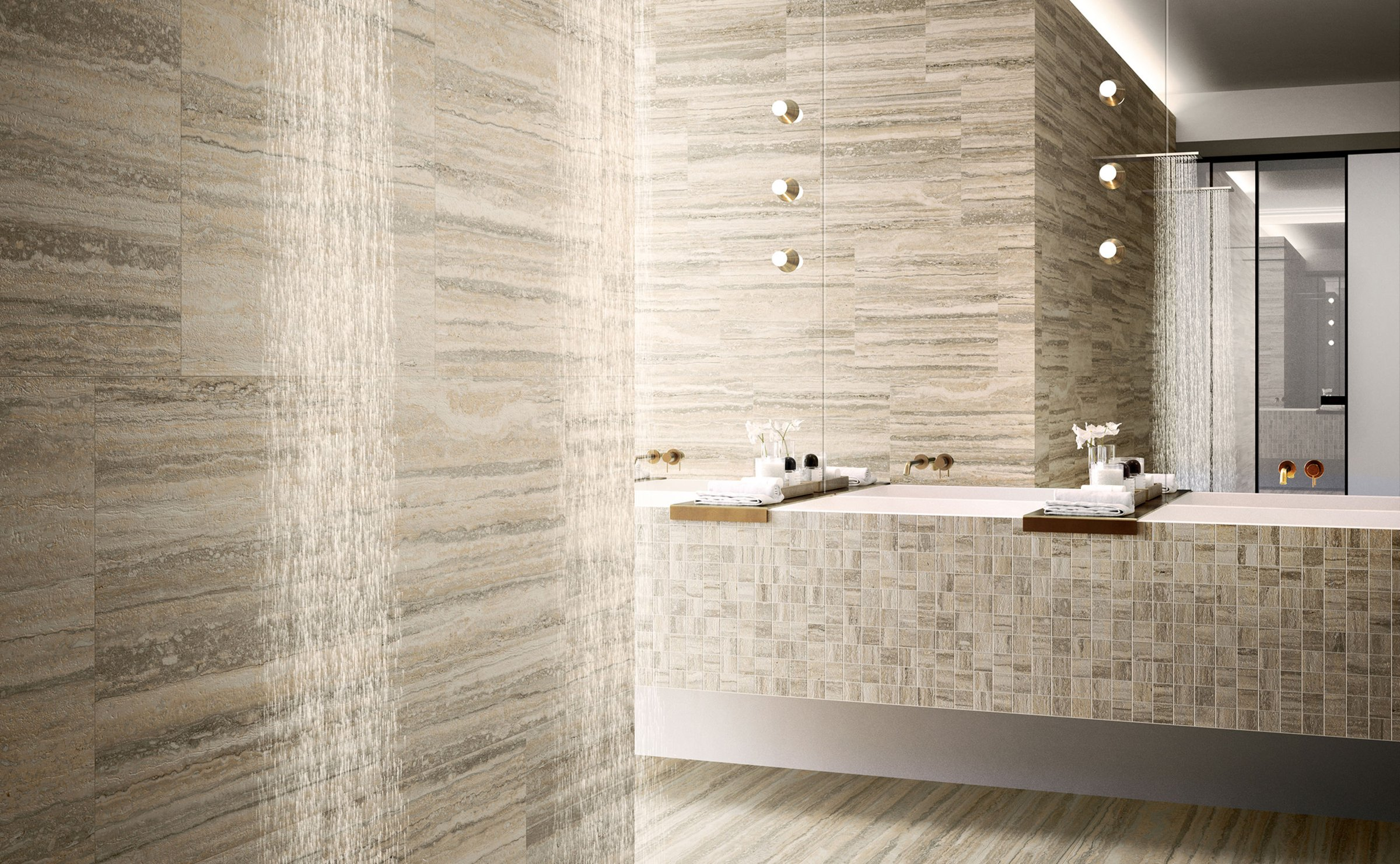 Tipos - marble effect porcelain stoneware
