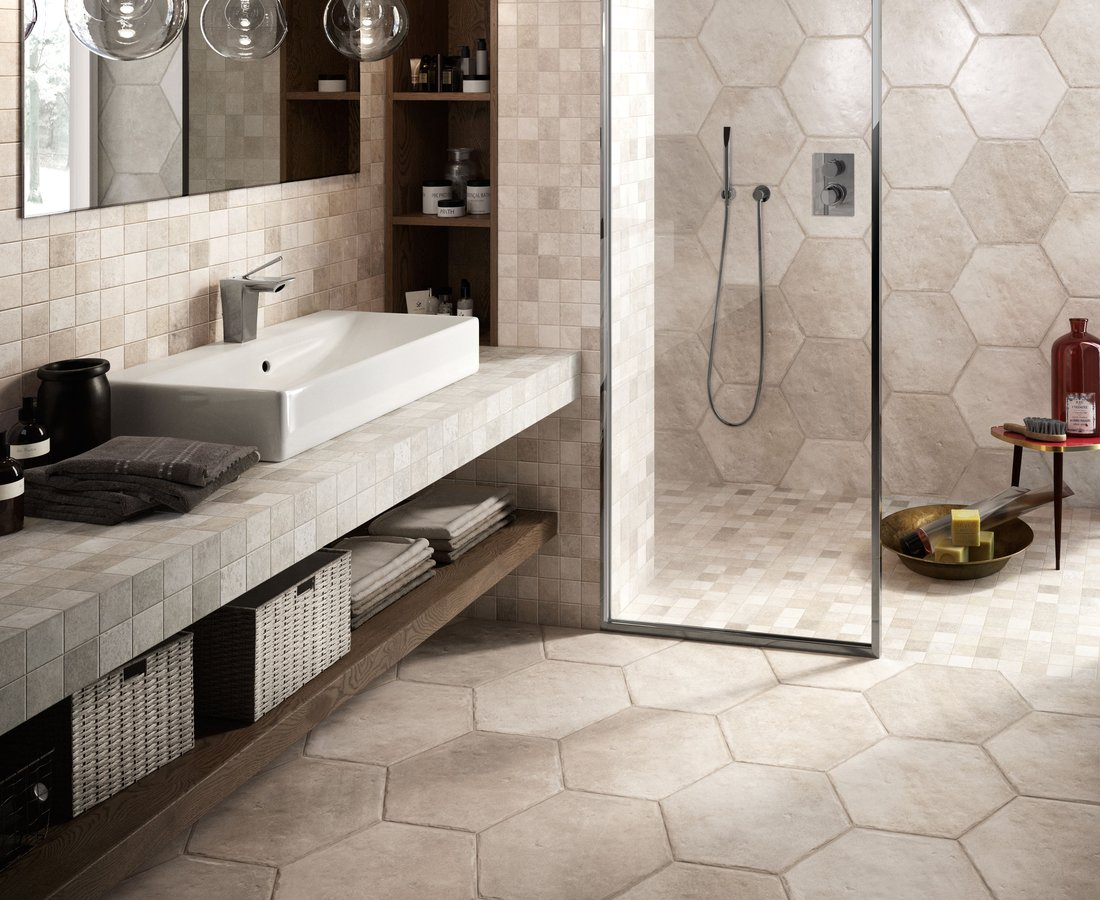NATIVE, White tiles by Ceramica Sant'Agostino