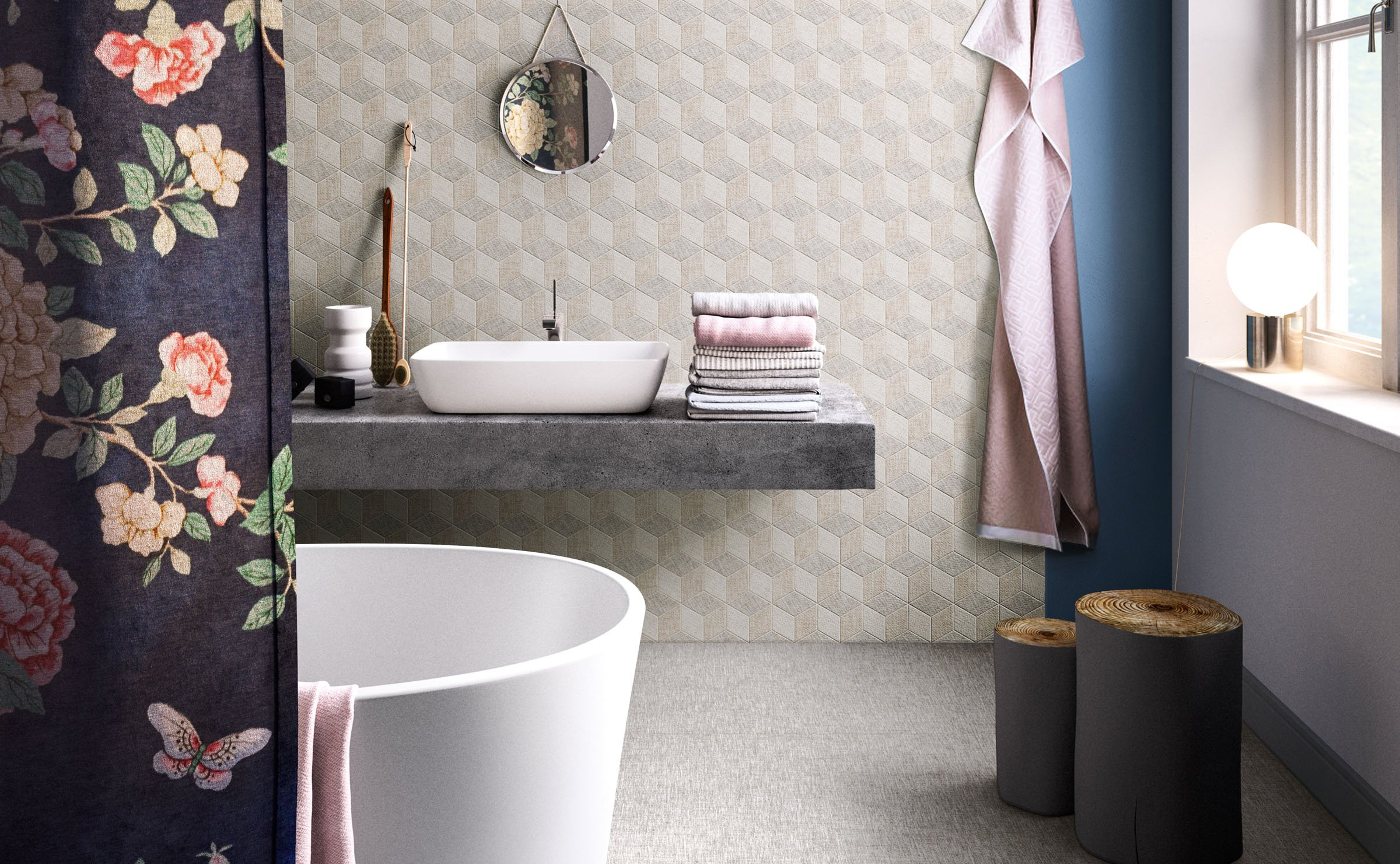 Fineart: fabric effect ceramic tiles