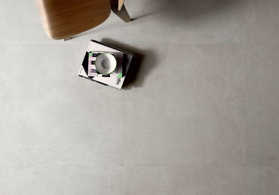 Set: concrete effect porcelain stoneware