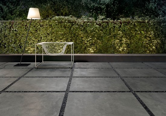 Set - concrete effect porcelain stoneware