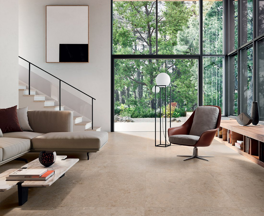 Living room tiles UNIONSTONE by Ceramica Sant'Agostino
