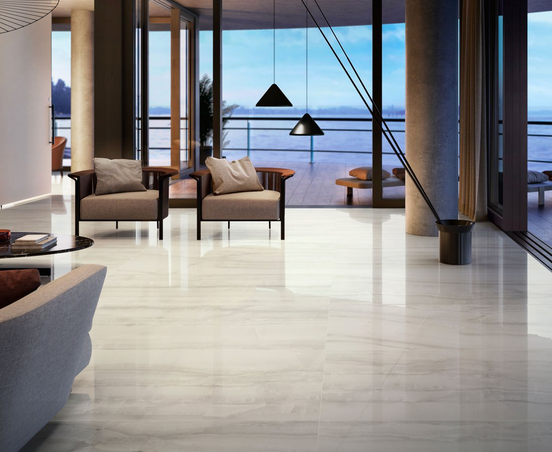 Living room tiles AKOYA by Ceramica Sant'Agostino