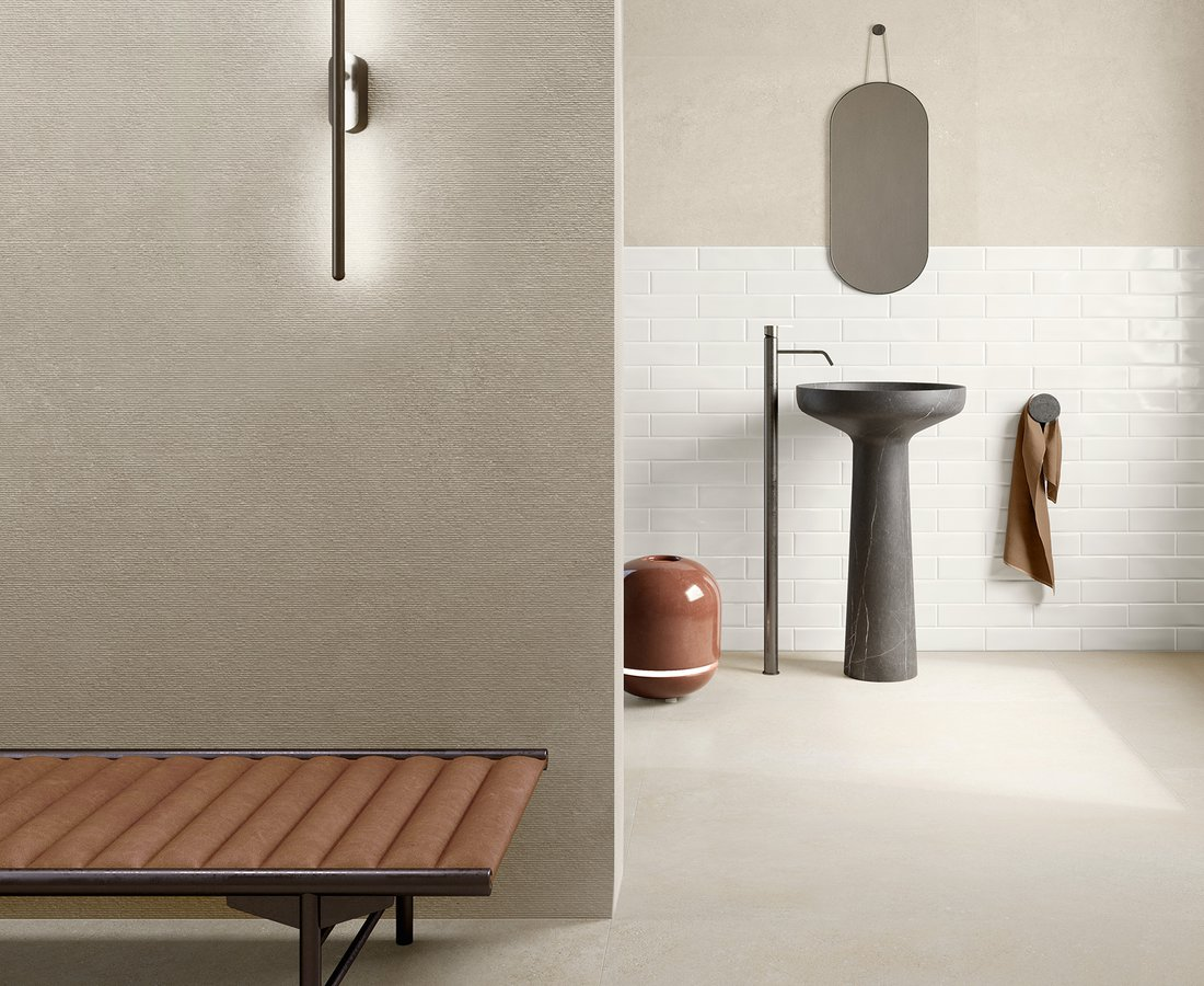 Bathroom tiles SILKYSTONE by Ceramica Sant'Agostino
