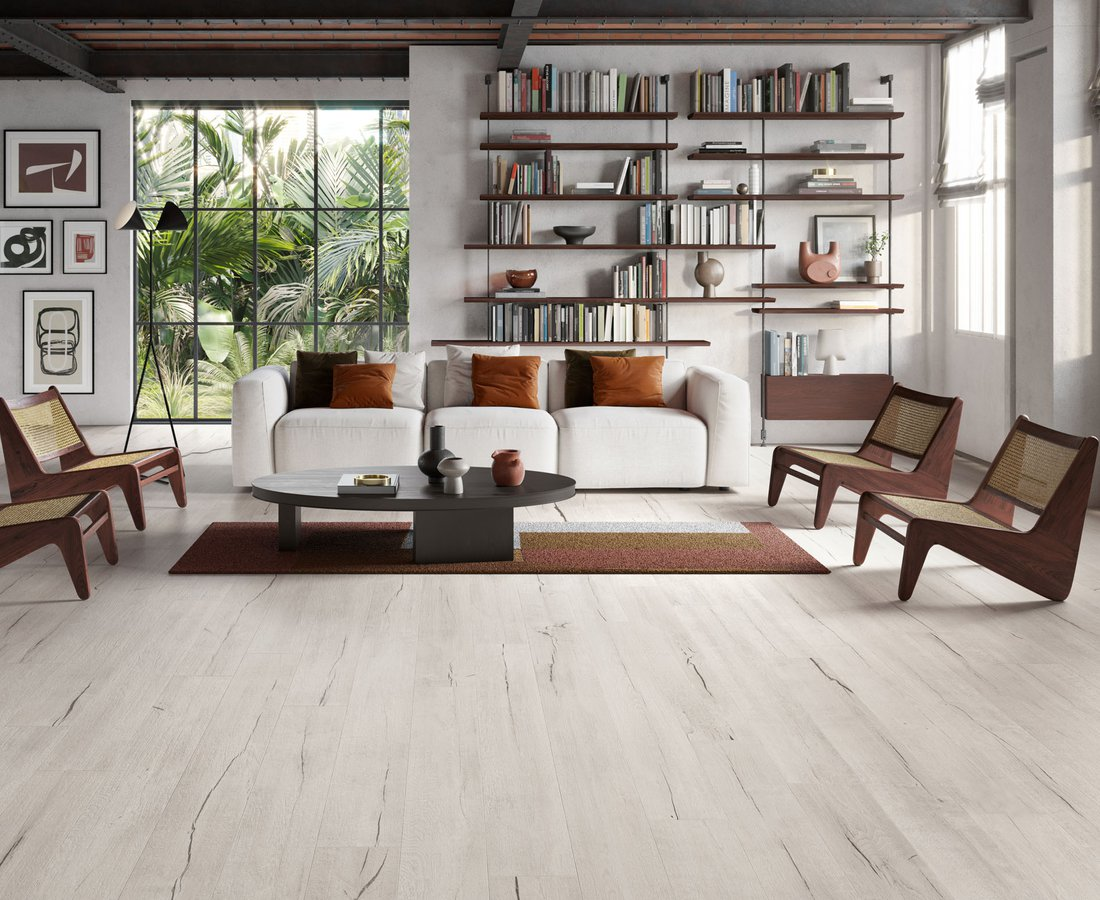 Living room tiles TIMEWOOD by Ceramica Sant'Agostino
