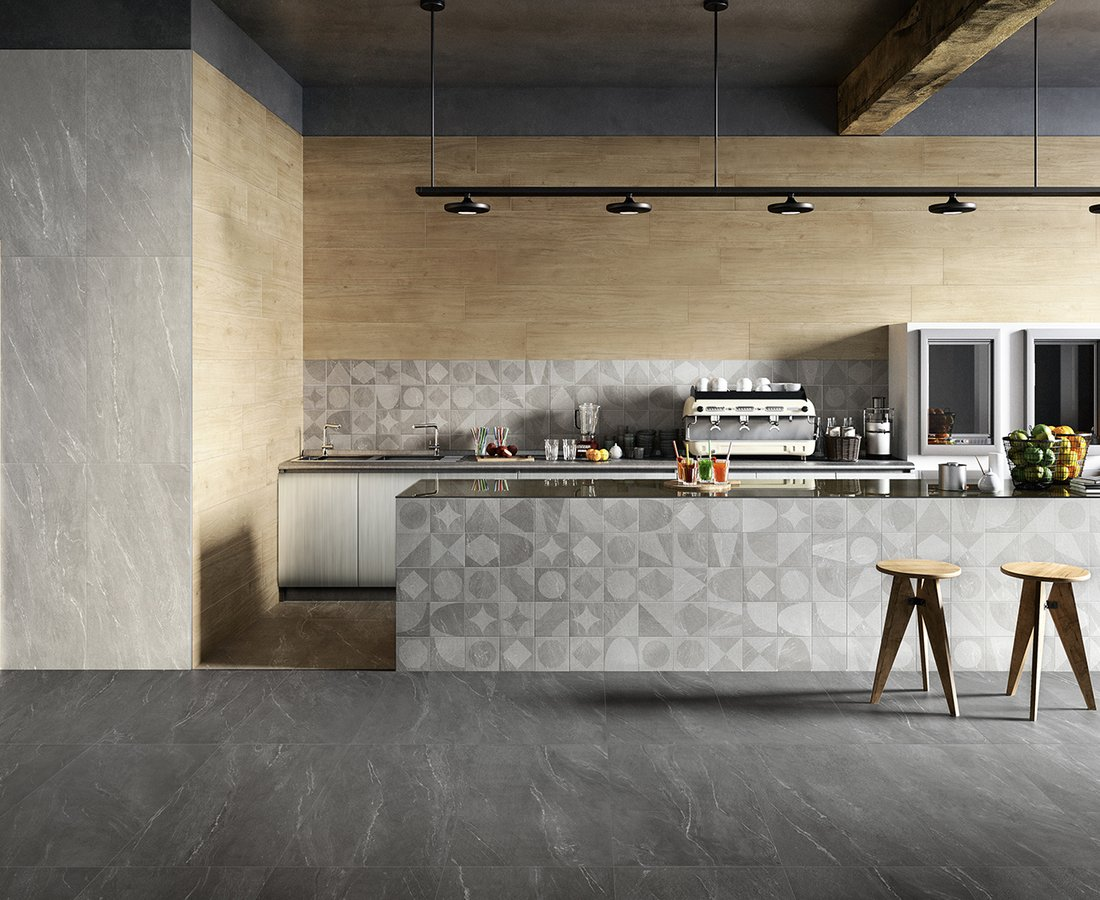 WAYSTONE, Grey tiles by Ceramica Sant'Agostino