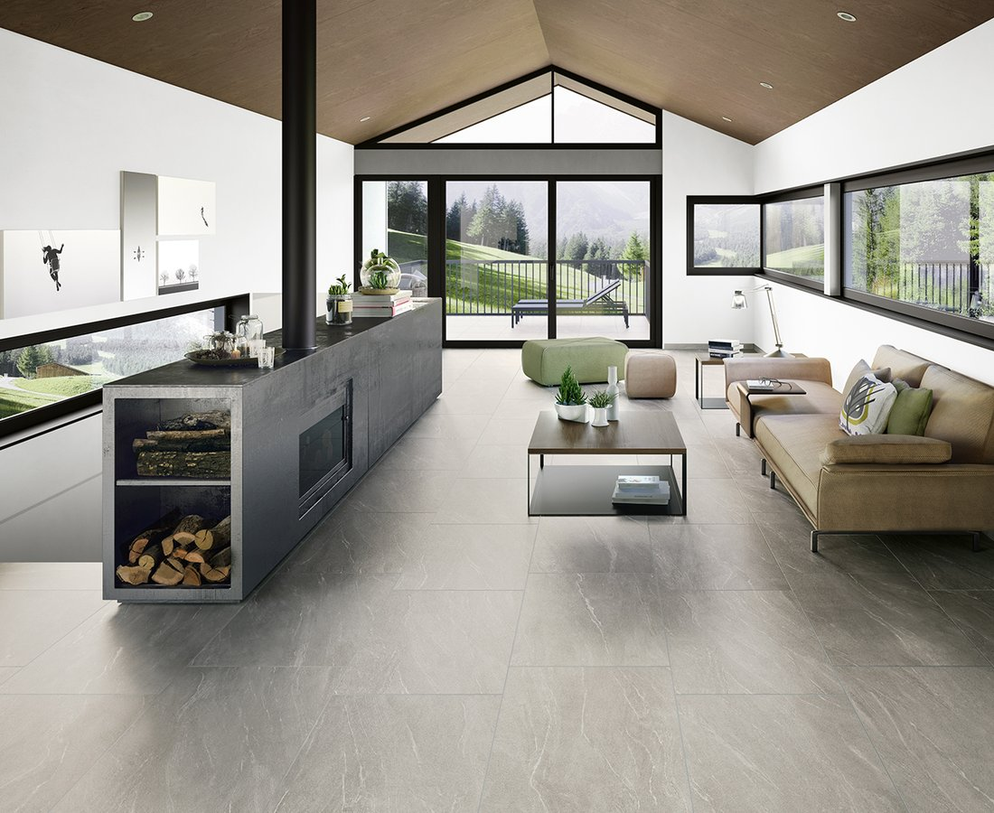 Living room tiles WAYSTONE by Ceramica Sant'Agostino