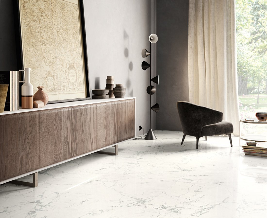Living room tiles PURE MARBLE by Ceramica Sant'Agostino