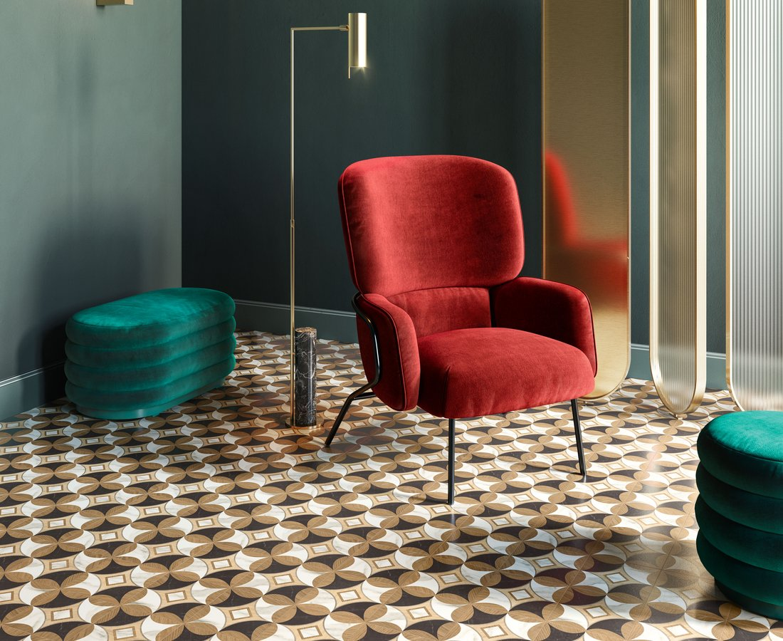 Living room tiles INTARSI ELITE by Ceramica Sant'Agostino