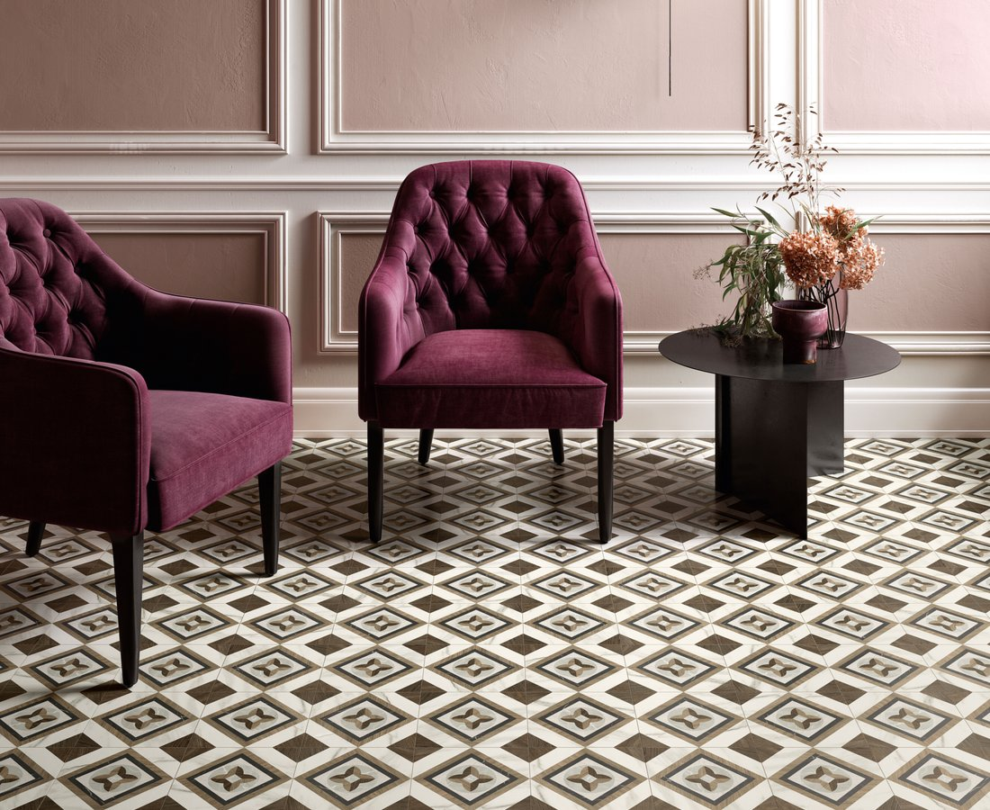 Living room tiles INTARSI GLAM by Ceramica Sant'Agostino
