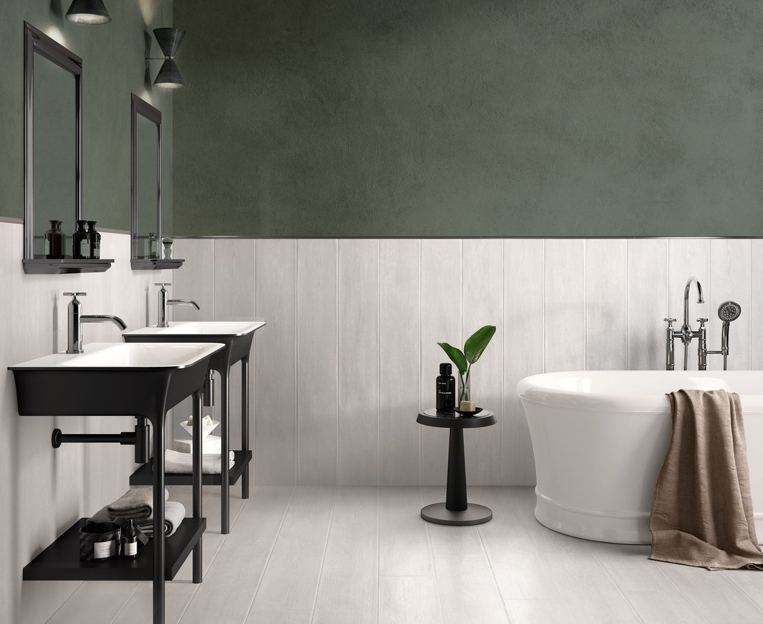 LAKEWOOD, White tiles by Ceramica Sant'Agostino