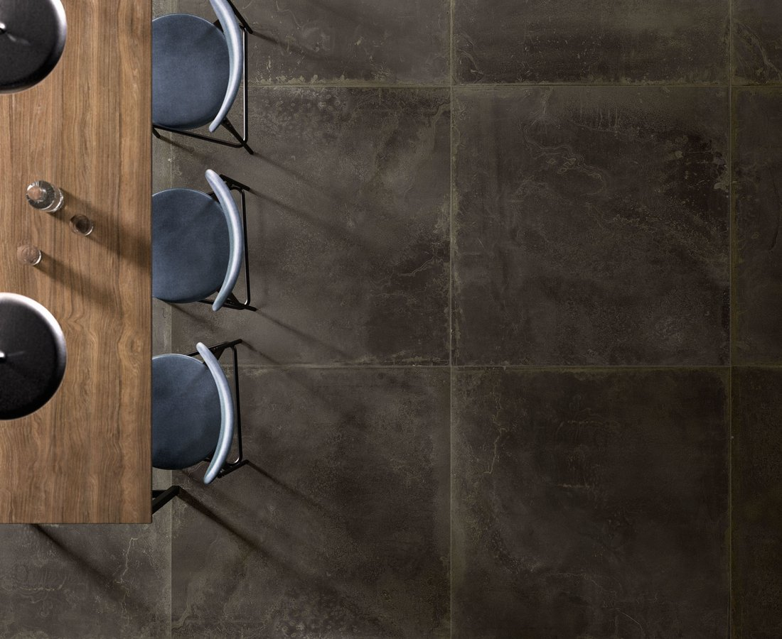 OXIDART, Brown tiles by Ceramica Sant'Agostino