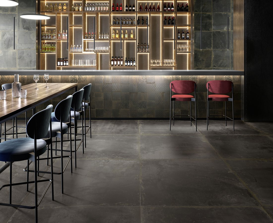 Commercial floor tiles OXIDART by Ceramica Sant'Agostino