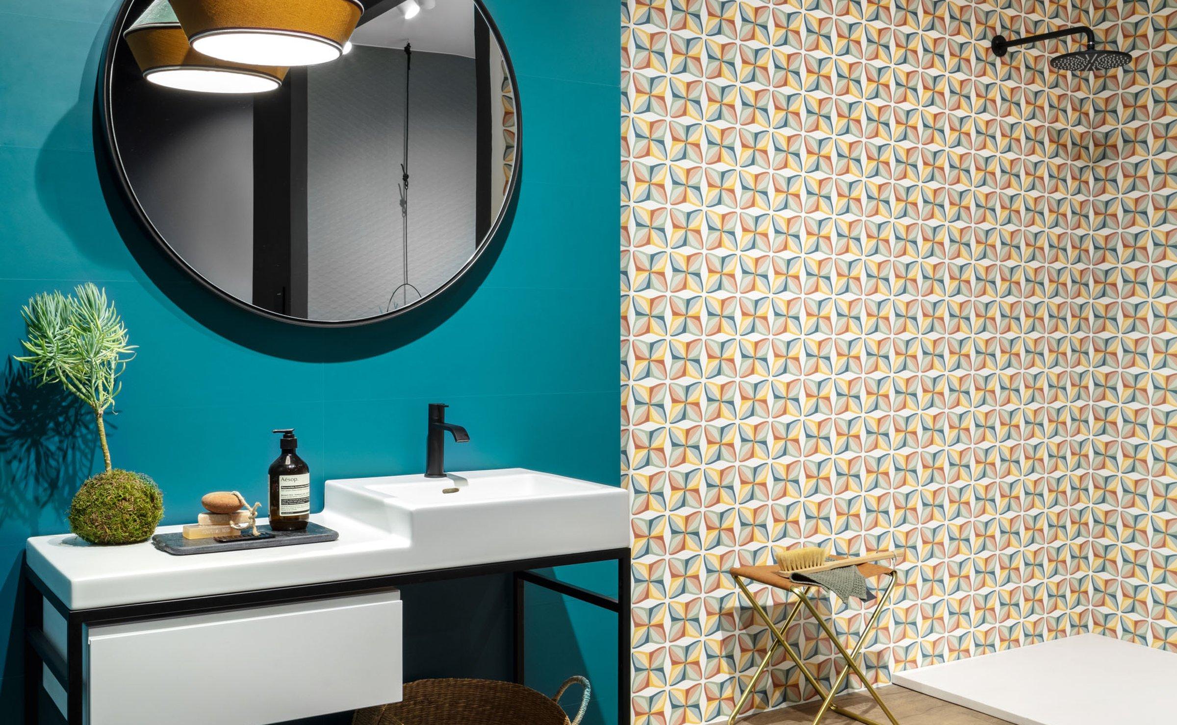 Spring: porcelain bathroom tiles | Ceramica Sant'Agostino