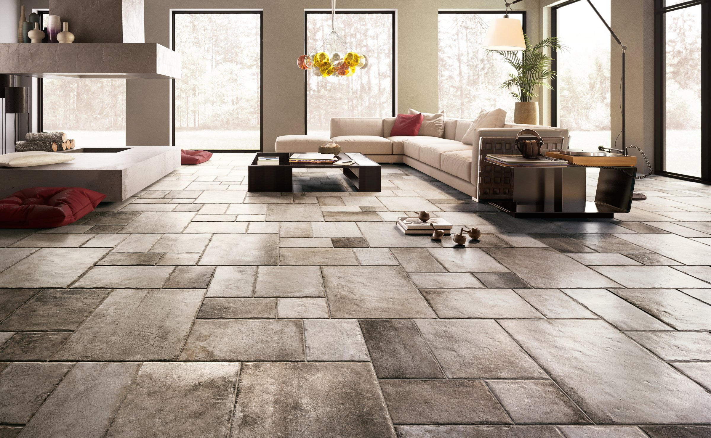 Native: stone effect floor