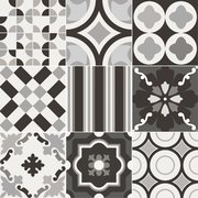 Patchwork Black&White: porcelain tiles